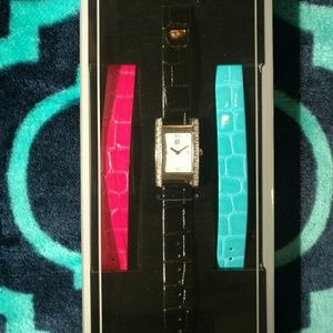 NWT Givenchy Leather Interchangeable Bands Watch